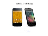 Evolution Of Cell/Mobile Phones
