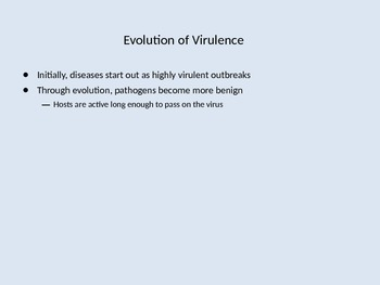 Evolution of Disease