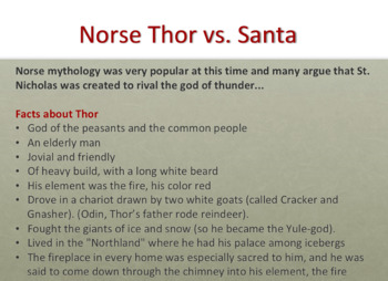 Evolution of Fairy Tales and Santa: Persuasive Para and Creative Writing Prompt