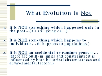 Evolution of Living Things PowerPoint Presentation Lesson Plan