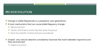 Evolution of Populations