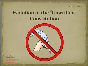 "Evolution of the ""Unwritten"" Constitution Bundle"