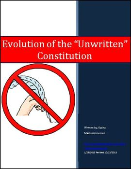 "Evolution of the ""Unwritten"" Constitution Differentiated Instruction Lesson Plan"