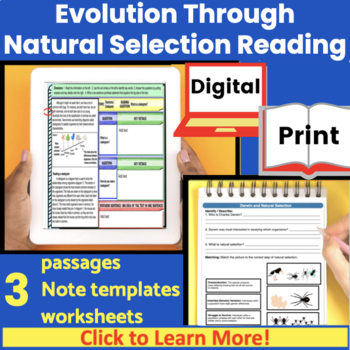 Evolution through Natural Selection Guided Reading