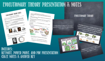 Evolutionary Theory: Presentation and Notes Bundle
