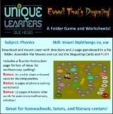 Ew! Disgusting! Folder Game Phonics Vowel Diphthongs eu ew