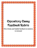 Expository Essay Feedback Rubric