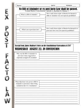 Ex Post Facto Investigation