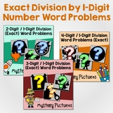 Single Digit Long Division 4th Grade, Division Word Problems Math Coloring Sheet