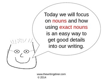 Exact Nouns from The Writing Diner