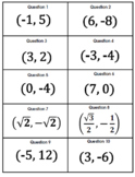 Exact Value of All Six Trigonometric Functions Card Matching Activity