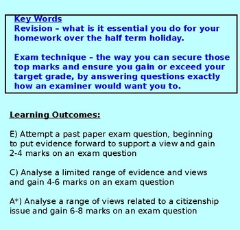 Exam - End of Year 7 (RS, Citizenship, PSHE)