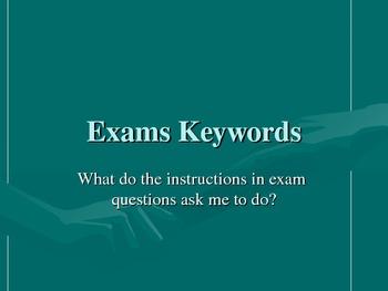 Exam Keywords (Vocabulary / Terminology) U.S. Spelling