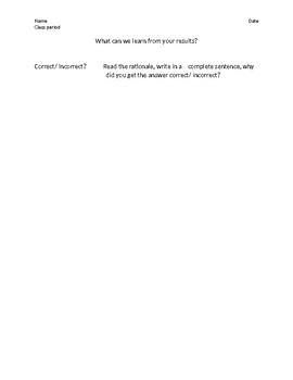 Exam Reflection Sheet