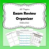 Exam Review Organizer (Editable)
