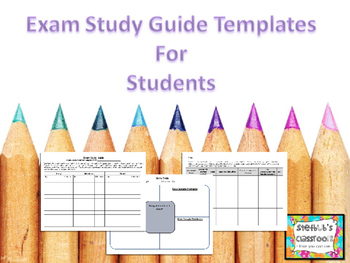 Exam Review Templates for Students (3 for the price of 1!)