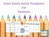 Semester Exam Review Templates for Students (3 for the price of 1!)