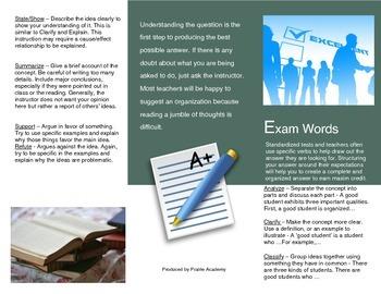 Exam Words