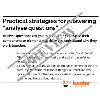 "Exam and essay verbs you need to know in high school: ""Analyse"""