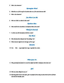 "Exam for ""Their Eyes Were Watching God"" using the Beatles ""Rubber Soul"""