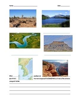 Exam on Landforms