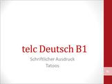 Video on exam preparation telc B1