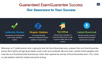 ExamGuarantee - A trusty source for all your IT exams preparation