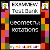 Transformations Rotations Test Bank Geometry Go Math Pre-Algebra for ExamView