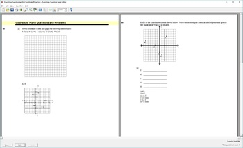ExamView Question Bank for Plotting and Finding Points on the Coordinate Plane