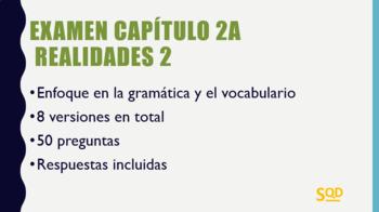 Examen Capítulo 2A Realidades 2