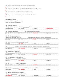 Examen Capítulo 9B Realidades 2