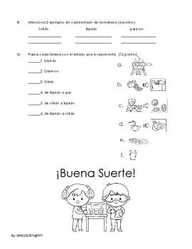 Examen Estados de la Materia