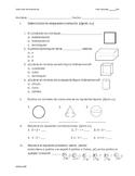 Examen Figuras geométricas bidimensionales y tridimensionales