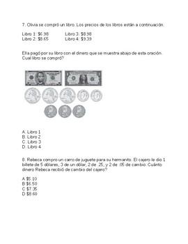 Examen de 10 preguntas de sumas y restas