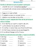 Examen de Abreviaturas (Abbreviations Test in Spanish)
