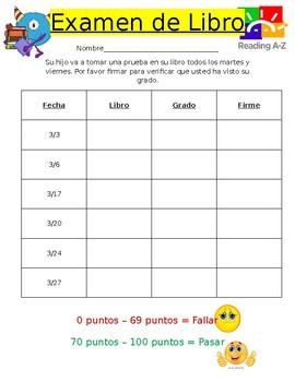 Examen de Libro
