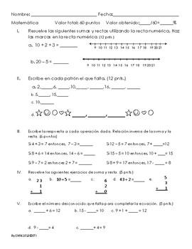 Examen de Unidad 1.2 matemática