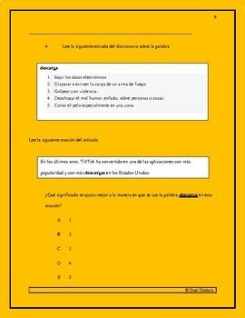Examen de lectura STAAR: TikTok
