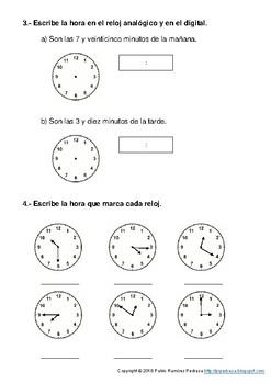 Examen de medida del tiempo