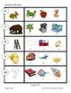 Examen de rimas y reconocimiento de palabras.
