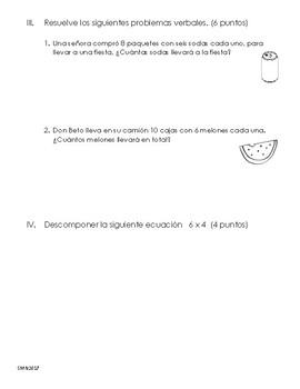 Examen multiplicación de un dígito