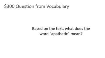 Examination Day Jeopardy