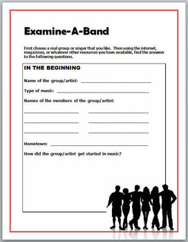 Examine a Band - Critical Thinking and Media Literacy