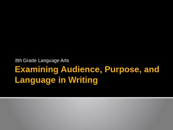 Examining Audience, Purpose, and Language in Writing