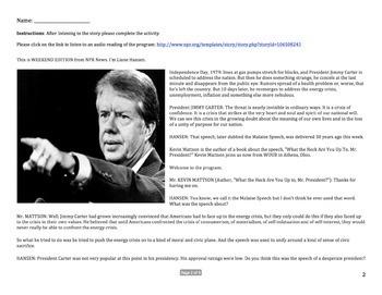 Examining Carter's 'Malaise' Speech - NPR Audio Analysis