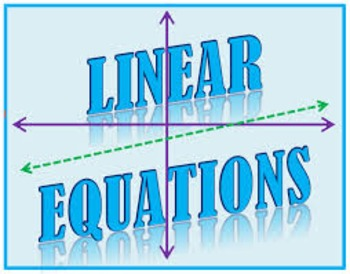 Examining Linear Equations Task - Description, Table of Values & Graph