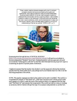 Close Reading Through Critical Analysis of Text