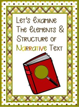 Examining Narrative Text Elements and Structures SMARTBOARD