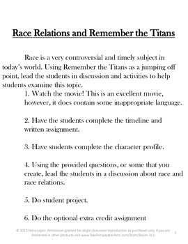 Examining Race Relations in the 20th Century Using Remember the Titans