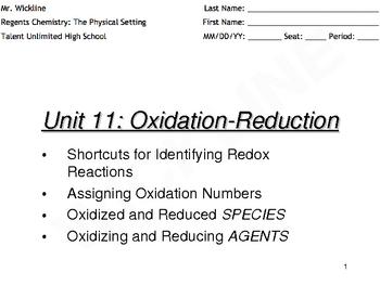 Examining Redox Reactions